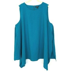 Lane Bryant Turquoise Layered Sleeveless Blouse